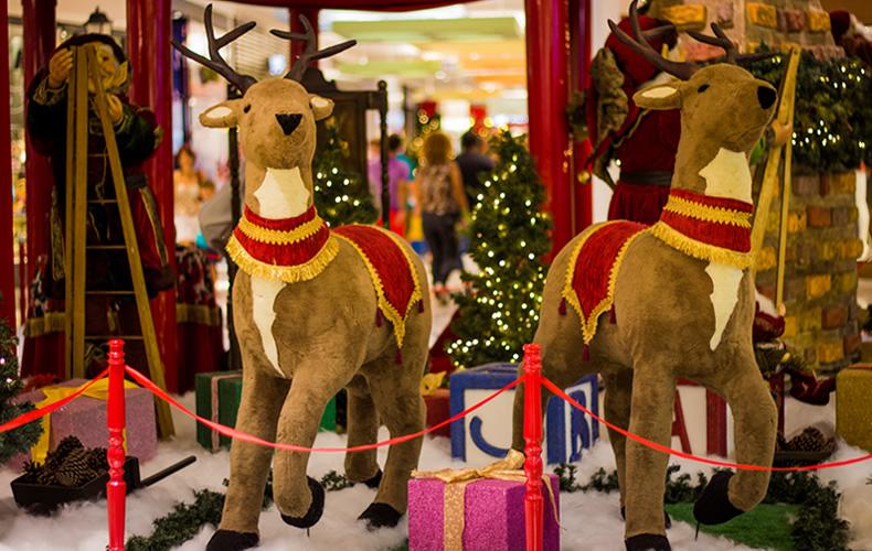 shopping2, Papai Noel, ursinhos, renas e o Natal