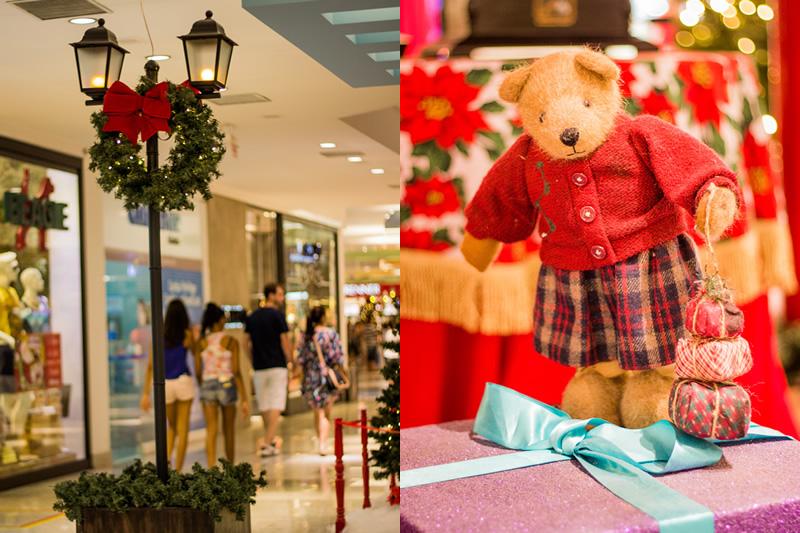shopping7, Papai Noel, ursinhos, renas e o Natal