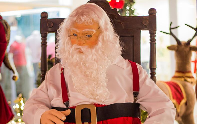shopping8, Papai Noel, ursinhos, renas e o Natal