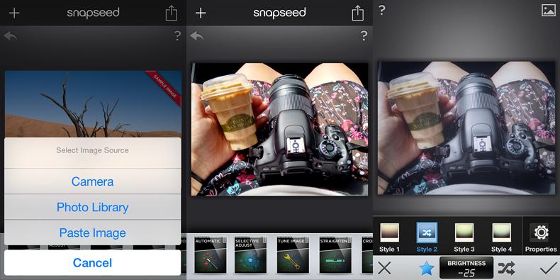 snapseed, Top 5 Aplicativos para fotografia, App