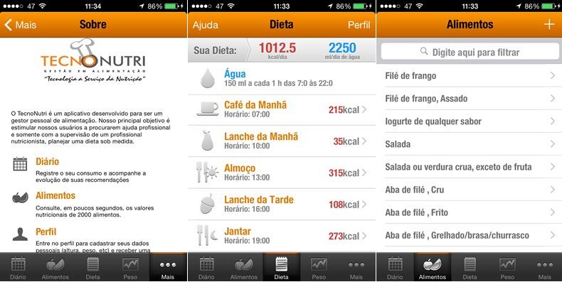 tecnonutri, 3 aplicativos grátis para pegar firme na dieta e entrar em forma